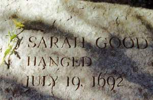 Sarah Good Grave Marker