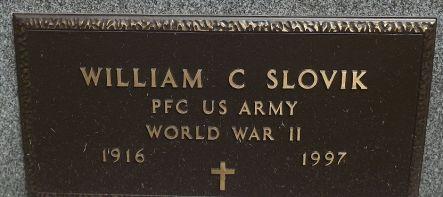 Grandpa Slovik grave